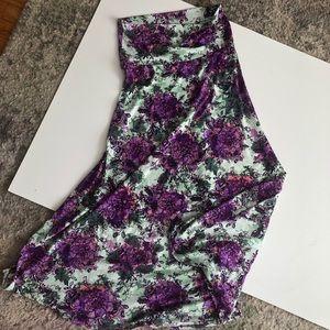Floral Lularoe Maxi Skirt